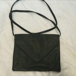 Crossbody vegan leather purse envelope